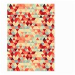 Modern Hipster Triangle Pattern Red Blue Beige Large Garden Flag (Two Sides) Back
