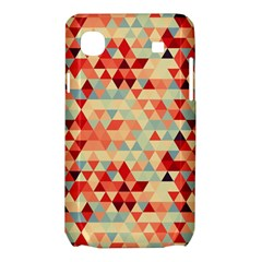 Modern Hipster Triangle Pattern Red Blue Beige Samsung Galaxy SL i9003 Hardshell Case