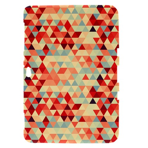 Modern Hipster Triangle Pattern Red Blue Beige Samsung Galaxy Tab 8.9  P7300 Hardshell Case