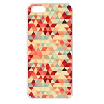 Modern Hipster Triangle Pattern Red Blue Beige Apple iPhone 5 Seamless Case (White) Front
