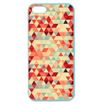 Modern Hipster Triangle Pattern Red Blue Beige Apple Seamless iPhone 5 Case (Color) Front