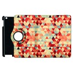 Modern Hipster Triangle Pattern Red Blue Beige Apple iPad 2 Flip 360 Case Front