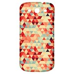 Modern Hipster Triangle Pattern Red Blue Beige Samsung Galaxy S3 S III Classic Hardshell Back Case Front