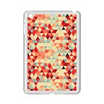 Modern Hipster Triangle Pattern Red Blue Beige iPad Mini 2 Enamel Coated Cases Front