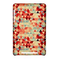 Modern Hipster Triangle Pattern Red Blue Beige Nexus 7 (2012)