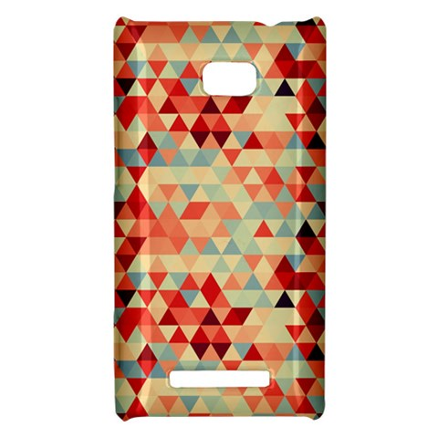 Modern Hipster Triangle Pattern Red Blue Beige HTC 8X