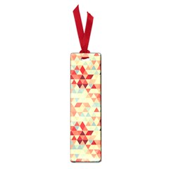 Modern Hipster Triangle Pattern Red Blue Beige Small Book Marks