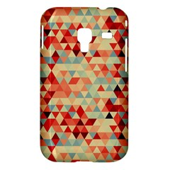 Modern Hipster Triangle Pattern Red Blue Beige Samsung Galaxy Ace Plus S7500 Hardshell Case