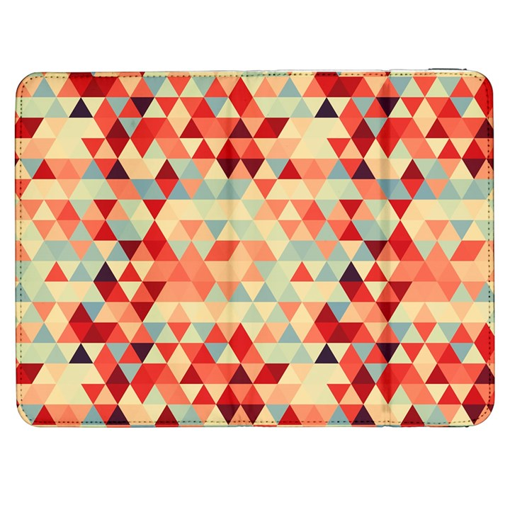 Modern Hipster Triangle Pattern Red Blue Beige Samsung Galaxy Tab 7  P1000 Flip Case