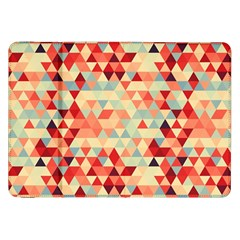 Modern Hipster Triangle Pattern Red Blue Beige Samsung Galaxy Tab 8.9  P7300 Flip Case