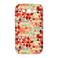 Modern Hipster Triangle Pattern Red Blue Beige Samsung Galaxy Grand DUOS I9082 Hardshell Case