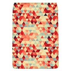 Modern Hipster Triangle Pattern Red Blue Beige Flap Covers (L)