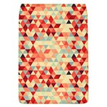 Modern Hipster Triangle Pattern Red Blue Beige Flap Covers (L)  Front