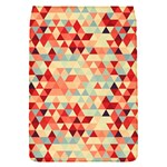 Modern Hipster Triangle Pattern Red Blue Beige Flap Covers (S)  Front