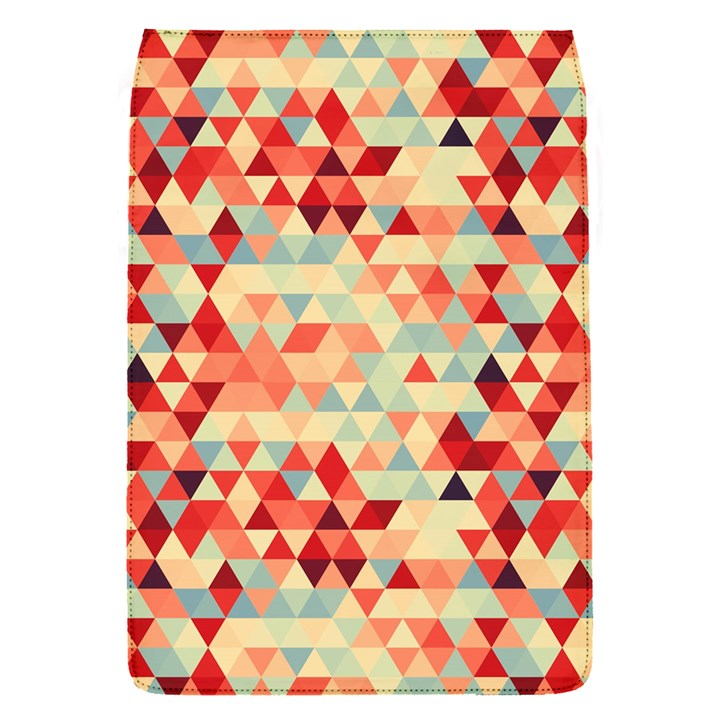 Modern Hipster Triangle Pattern Red Blue Beige Flap Covers (S)