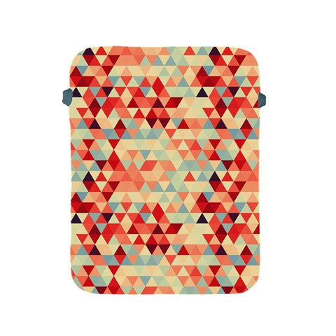 Modern Hipster Triangle Pattern Red Blue Beige Apple iPad 2/3/4 Protective Soft Cases
