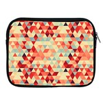 Modern Hipster Triangle Pattern Red Blue Beige Apple iPad 2/3/4 Zipper Cases Front