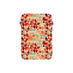 Modern Hipster Triangle Pattern Red Blue Beige Apple iPad Mini Protective Soft Cases Front