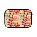 Modern Hipster Triangle Pattern Red Blue Beige Apple iPad Mini Zipper Cases Front