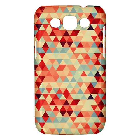Modern Hipster Triangle Pattern Red Blue Beige Samsung Galaxy Win I8550 Hardshell Case