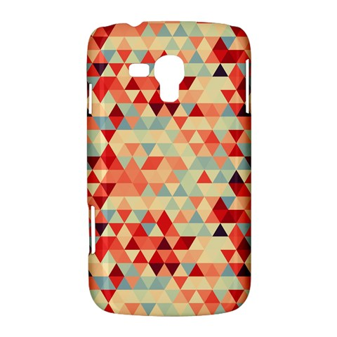 Modern Hipster Triangle Pattern Red Blue Beige Samsung Galaxy Duos I8262 Hardshell Case