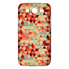 Modern Hipster Triangle Pattern Red Blue Beige Samsung Galaxy Mega 5 8 I9152 Hardshell Case