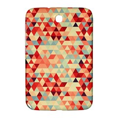 Modern Hipster Triangle Pattern Red Blue Beige Samsung Galaxy Note 8 0 N5100 Hardshell Case