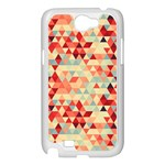 Modern Hipster Triangle Pattern Red Blue Beige Samsung Galaxy Note 2 Case (White) Front
