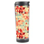 Modern Hipster Triangle Pattern Red Blue Beige Travel Tumbler Center