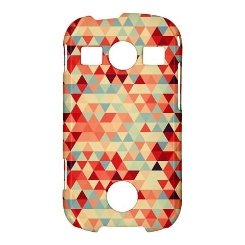 Modern Hipster Triangle Pattern Red Blue Beige Samsung Galaxy S7710 Xcover 2 Hardshell Case
