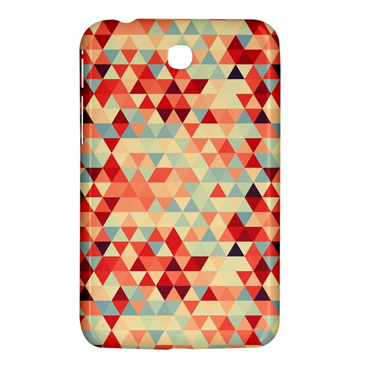 Modern Hipster Triangle Pattern Red Blue Beige Samsung Galaxy Tab 3 (7 ) P3200 Hardshell Case