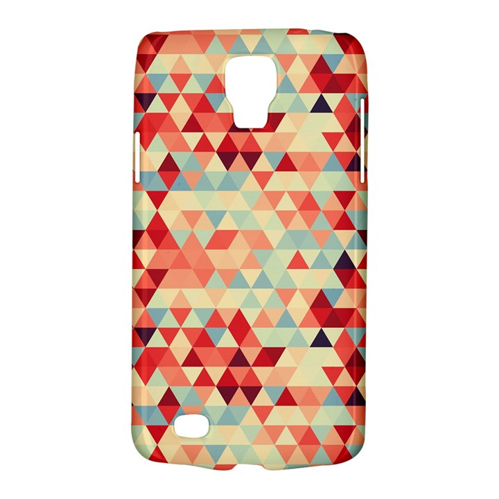 Modern Hipster Triangle Pattern Red Blue Beige Galaxy S4 Active