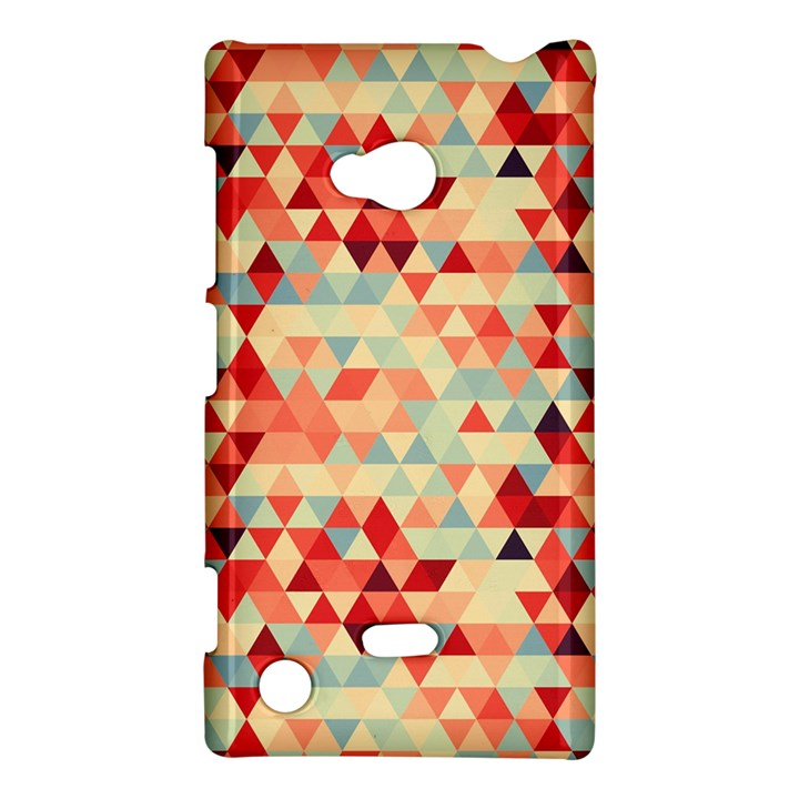 Modern Hipster Triangle Pattern Red Blue Beige Nokia Lumia 720