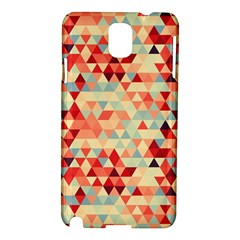 Modern Hipster Triangle Pattern Red Blue Beige Samsung Galaxy Note 3 N9005 Hardshell Case