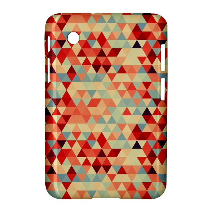 Modern Hipster Triangle Pattern Red Blue Beige Samsung Galaxy Tab 2 (7 ) P3100 Hardshell Case