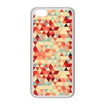 Modern Hipster Triangle Pattern Red Blue Beige Apple iPhone 5C Seamless Case (White) Front