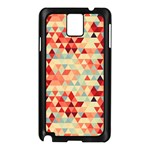 Modern Hipster Triangle Pattern Red Blue Beige Samsung Galaxy Note 3 N9005 Case (Black) Front