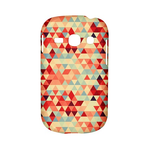Modern Hipster Triangle Pattern Red Blue Beige Samsung Galaxy S6810 Hardshell Case
