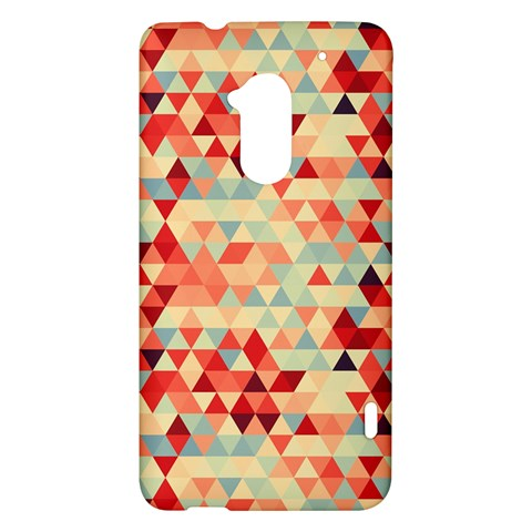 Modern Hipster Triangle Pattern Red Blue Beige HTC One Max (T6) Hardshell Case