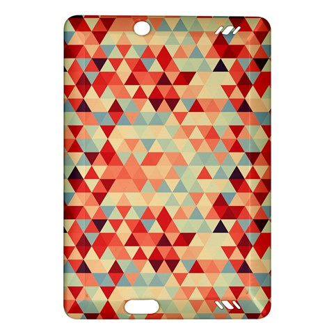 Modern Hipster Triangle Pattern Red Blue Beige Amazon Kindle Fire HD (2013) Hardshell Case
