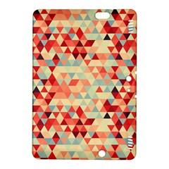 Modern Hipster Triangle Pattern Red Blue Beige Kindle Fire Hdx 8 9  Hardshell Case