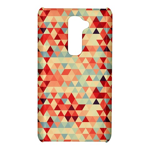 Modern Hipster Triangle Pattern Red Blue Beige LG G2