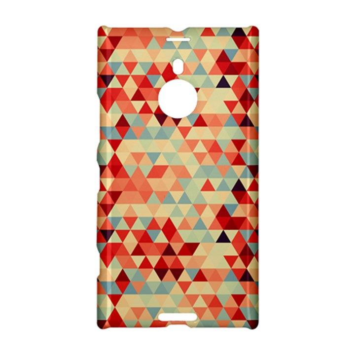 Modern Hipster Triangle Pattern Red Blue Beige Nokia Lumia 1520