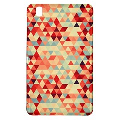 Modern Hipster Triangle Pattern Red Blue Beige Samsung Galaxy Tab Pro 8 4 Hardshell Case