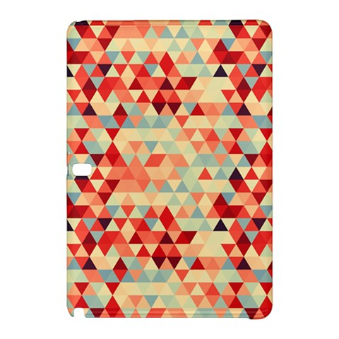 Modern Hipster Triangle Pattern Red Blue Beige Samsung Galaxy Tab Pro 12.2 Hardshell Case