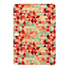 Modern Hipster Triangle Pattern Red Blue Beige Samsung Galaxy Tab Pro 12 2 Hardshell Case
