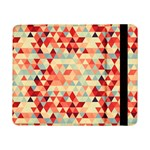 Modern Hipster Triangle Pattern Red Blue Beige Samsung Galaxy Tab Pro 8.4  Flip Case Front