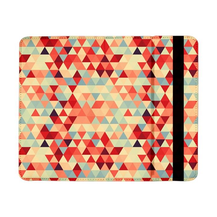 Modern Hipster Triangle Pattern Red Blue Beige Samsung Galaxy Tab Pro 8.4  Flip Case