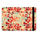 Modern Hipster Triangle Pattern Red Blue Beige Samsung Galaxy Tab Pro 10.1  Flip Case Front