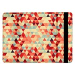 Modern Hipster Triangle Pattern Red Blue Beige Samsung Galaxy Tab Pro 12.2  Flip Case Front
